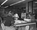Students studying in Waterloo Lutheran University Library