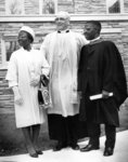 J. Ray Houser and Priscilla Payne with Roland J. Payne at his graduation from Evangelical Lutheran Seminary of Canada