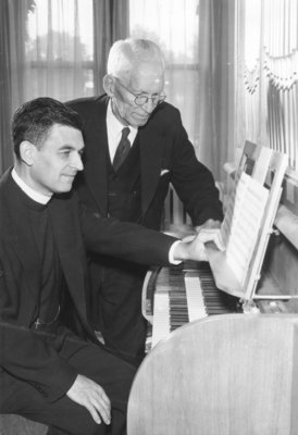 Ulrich Leupold and Nils Willison with Seminary chapel organ