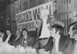 J. Mitchell speaking at Wilfrid Laurier University Lettermen's Club banquet, 1974