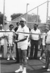William Timmis opening tennis courts at Wilfrid Laurier University