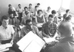 Joseph Braun in classroom