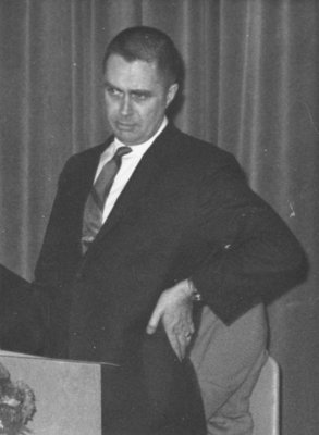 Peter Rowsell at Waterloo Lutheran University's Boar's Head Banquet, 1967