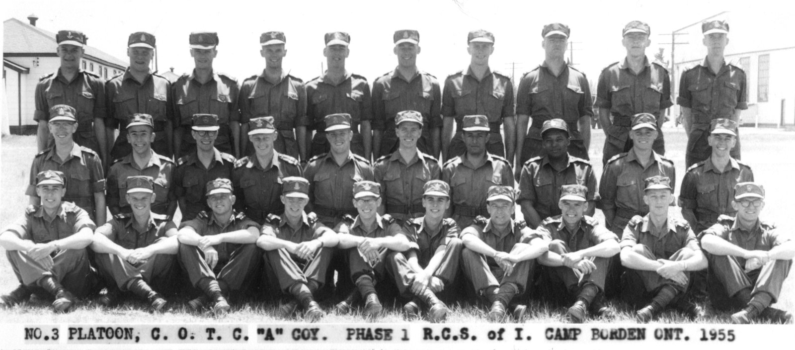 Canadian Officers' Training Corps no. 3 platoon at Canadian Forces Base Borden