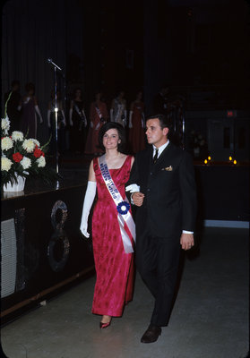 Judy MacDonald competing in the 1967 Miss Canadian University Queen Pageant