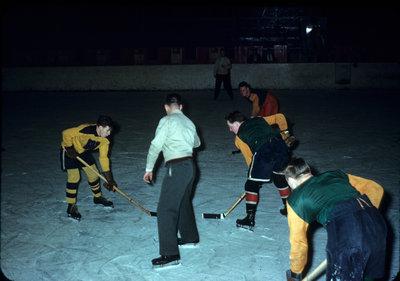 Waterloo College alumni hockey game, 1952