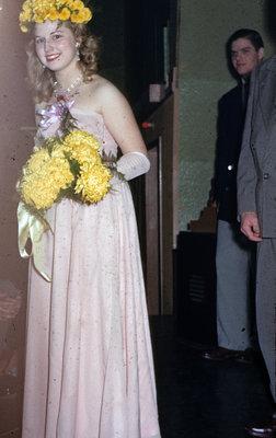Campus Queen Ellen Roberts at Waterloo College Junior Prom 1951