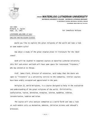 115-1965 : Listeners welcome at WLU English and Religion classes