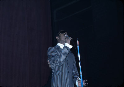 Stevie Wonder performing at Waterloo Lutheran University Winter Carnival 1970
