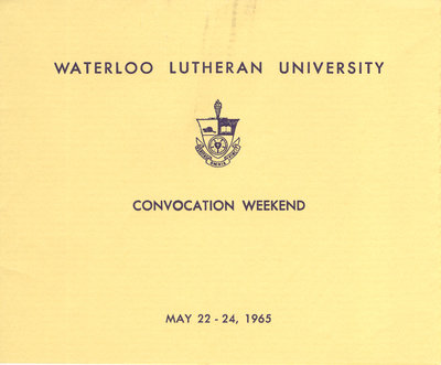 Waterloo Lutheran University convocation weekend, 1965