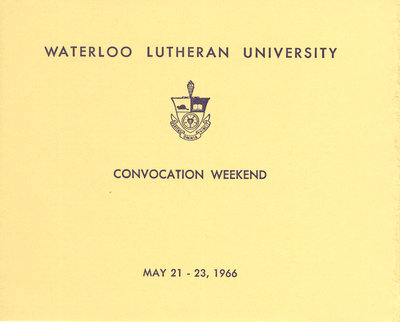 Waterloo Lutheran University convocation weekend, 1966
