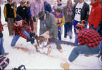 Log cutting at Winter Carnival 1985