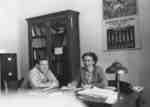 Marion Axford and Louis Hinchberger in Registrar's Office, Waterloo College