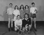 Waterloo College men and women badminton players