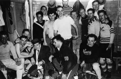 Waterloo College alumni hockey game, 1954-55