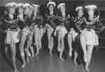 Purple and Gold Show chorus line, 1955