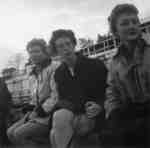 Waterloo College students Betty Peura, Carole Ernest, and Edith Winch