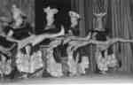 Male chorus line in the Purple and Gold Revue, 1957