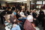 Guests attending Wilfrid Laurier University Library unveiling of medieval manuscript