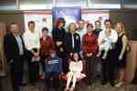 Agnes Hall and family at Wilfrid Laurier University Library donor event