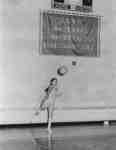 Lynn Ackford playing volleyball