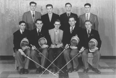 Waterloo College Fencing Club 1954 55