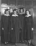 Four female Waterloo College graduates