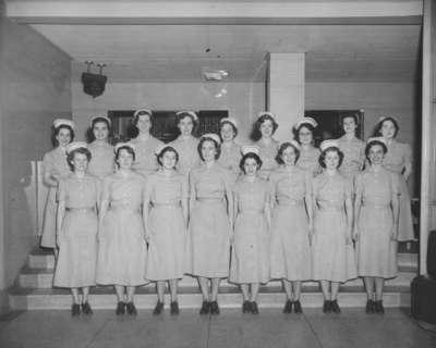 Nursing Class, Waterloo College, 1953-54