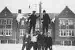 Waterloo College School students in front of Willison Hall