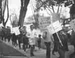 Vietnam War protest march in Waterloo, Ontario
