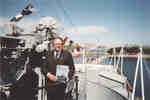 Barry Gough aboard the HMCS HAIDA
