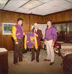 Neale Tayler with Lettermen's Club jacket