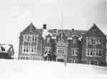 Waterloo College School students in front of Willison Hall