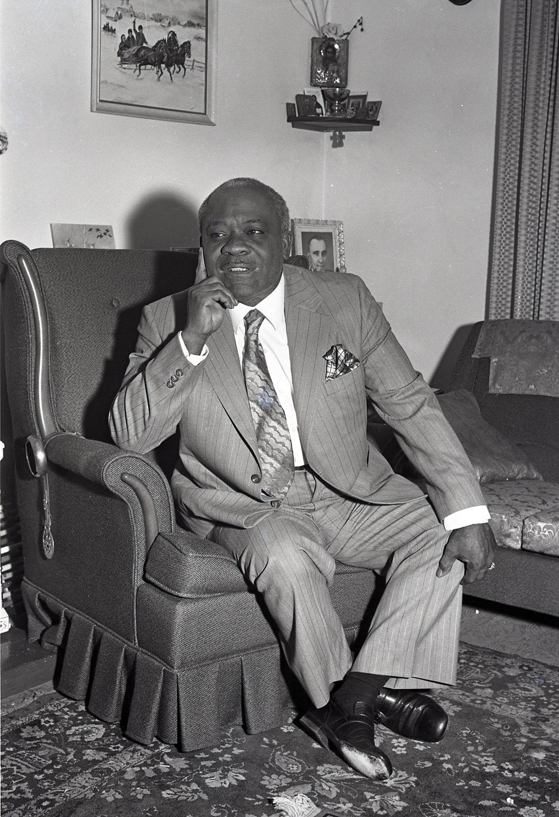 Dr. Monestime was the first black mayor elected in Canadian history. Courtesy the West Nipissing Public Library.