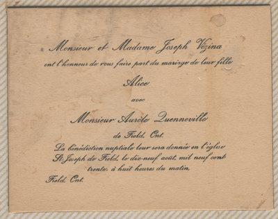 Invitation De Mariage Wedding Invitation West Nipissing Ouest