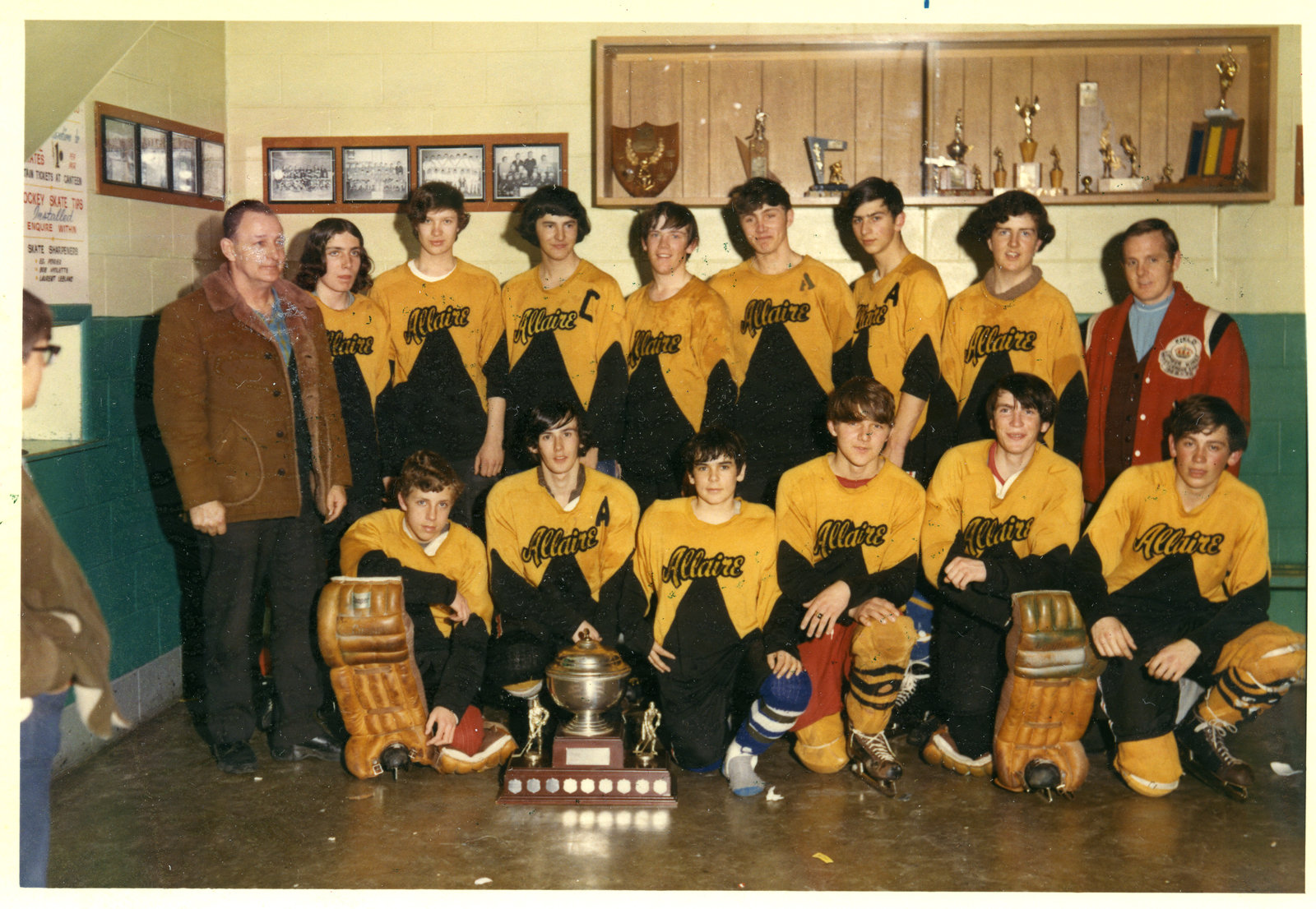 Une équipe d'hockey / A hockey team