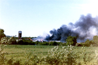 Un Feu au moulin Goulard / A fire at the Goulard Mill