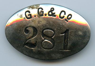 George Gordon Lumber Company Insigne 281 / George Gordon Lumber Company Badge 281