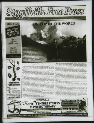Stouffville Free Press (Stouffville Ontario: Stouffville Free Press Inc.), 1 Nov 2006
