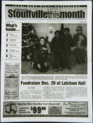 Whitchurch-Stouffville This Month (Stouffville Ontario: Star Marketing (1460912 Ontario Inc), 2001), 1 Jan 2003