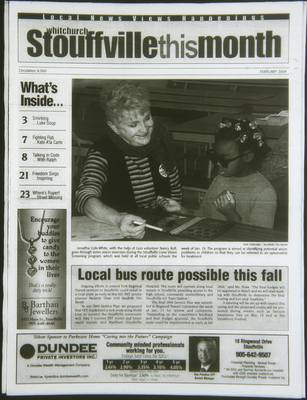 Whitchurch-Stouffville This Month (Stouffville Ontario: Star Marketing (1460912 Ontario Inc), 2001), 1 Feb 2004