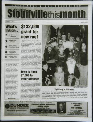 Whitchurch-Stouffville This Month (Stouffville Ontario: Star Marketing (1460912 Ontario Inc), 2001), 1 Mar 2003