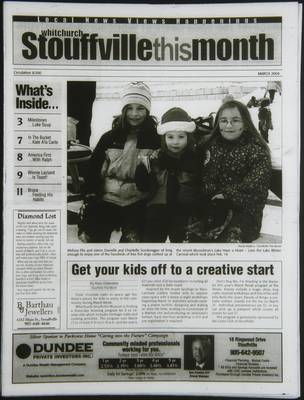 Whitchurch-Stouffville This Month (Stouffville Ontario: Star Marketing (1460912 Ontario Inc), 2001), 1 Mar 2004