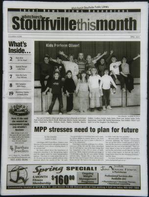 Whitchurch-Stouffville This Month (Stouffville Ontario: Star Marketing (1460912 Ontario Inc), 2001), 1 Apr 2003