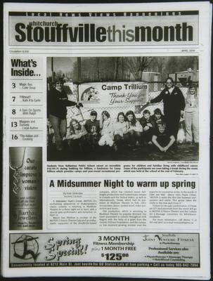 Whitchurch-Stouffville This Month (Stouffville Ontario: Star Marketing (1460912 Ontario Inc), 2001), 1 Apr 2004