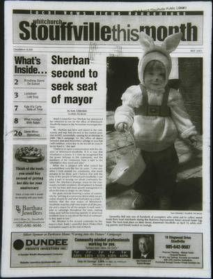 Whitchurch-Stouffville This Month (Stouffville Ontario: Star Marketing (1460912 Ontario Inc), 2001), 1 May 2003
