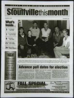Whitchurch-Stouffville This Month (Stouffville Ontario: Star Marketing (1460912 Ontario Inc), 2001), 1 Nov 2003