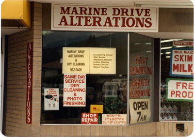 Marine Drive Alterations & Dry Cleaning