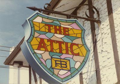 """""""The Attic"""" Sign"""
