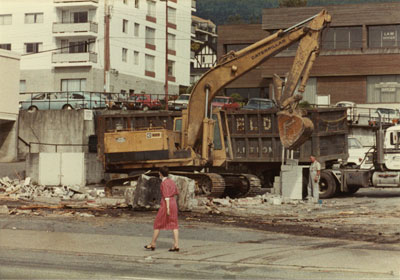 Demolition of Standard Service Station